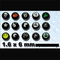 Boules Acrylique Noir 1.6 X 6 Mm