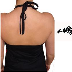 Robe Narkotek Noire Logo Blanc Style 'déchiré'