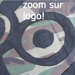 Robe WAR Logo Camouflage Style 'déchiré'