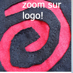 T Shirt Noir WAR Logo Rouge Coté Style 'déchiré'