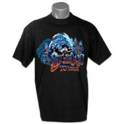 T-shirt Noir Psychedelic
