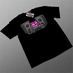 T Shirt Noir 'Chat DJ'