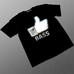 Black T Shirt 'I Like Bass'