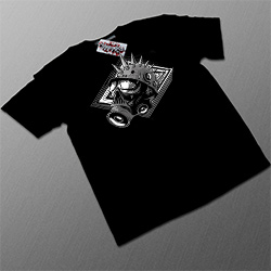 T-shirt Noir 'Masque A Gaz'