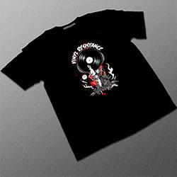 Black T-Shirt 'Vinyl Resistance'