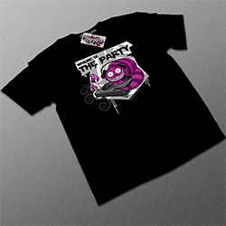 T-shirt Noir 'Where Is The Party'