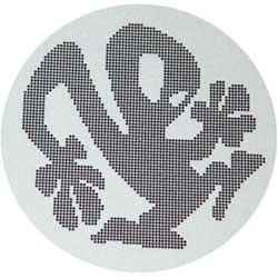 Slipmats Plasticman Black White