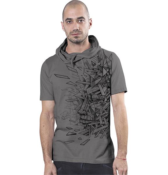 T Shirt Angle Sensual Grey