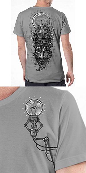 T Shirt Dr. Lamps Light Grey