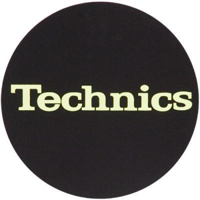 Slipmats - Technics Logo Glow Yellow