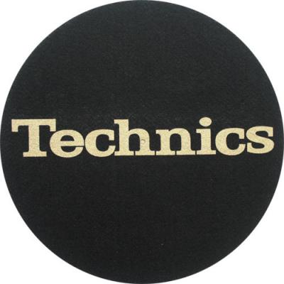 Slipmats Technics Logo - gold