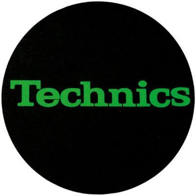 Slipmats Technics Logo - green