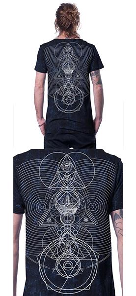 T Shirt City Zen Black Galaxey